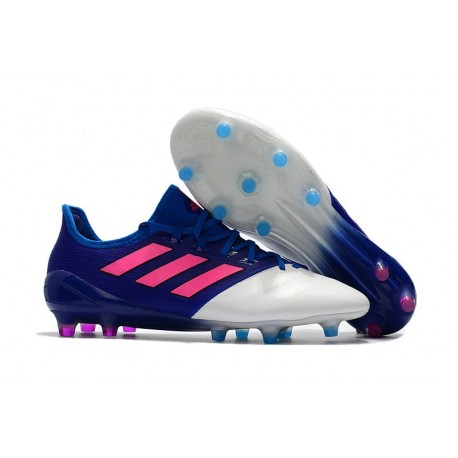 d1c036c7 adidas Ace 17.1 Leather FG Soccer Cleats - Blue Pink White