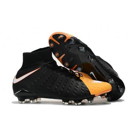 designer fashion 4a9b0 00f8b Nike Hypervenom Phantom III DF FG Tongueless Socccer Cleats - Black Yellow