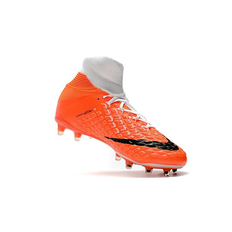timeless design 67b26 aa970 Nike Hypervenom Phantom III DF FG Flyknit Boots - White Orange Maximize.  Previous. Next
