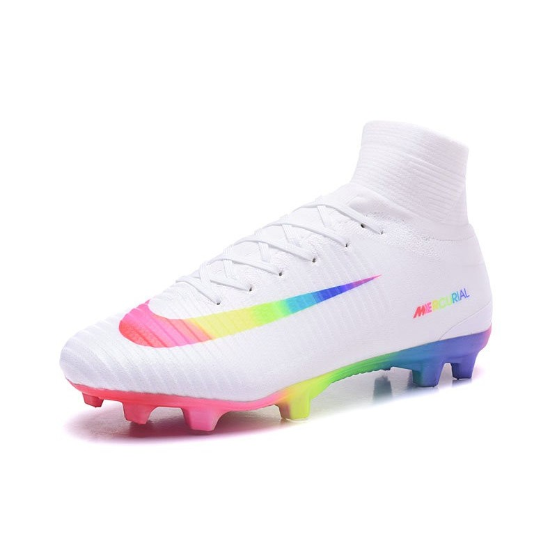 165d34548 Nike Mercurial Superfly V FG ACC Top Boots White Rainbow Maximize.  Previous. Next