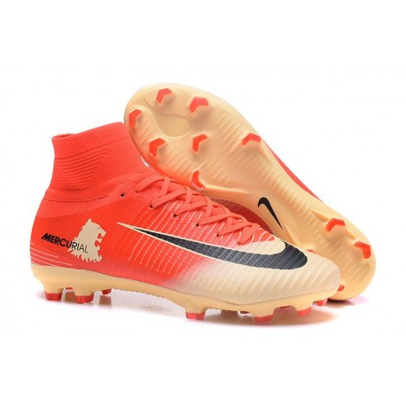 Nike Mercurial Superfly V FG ACC Top Boots Red Gold Black