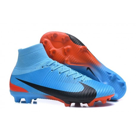Nike Mercurial Superfly V FG ACC Top Boots Blue Red