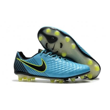 News Men Nike Magista Opus II FG Soccer Shoes Blue Black