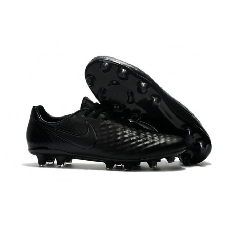 News Men Nike Magista Opus II FG Soccer Shoes All Black