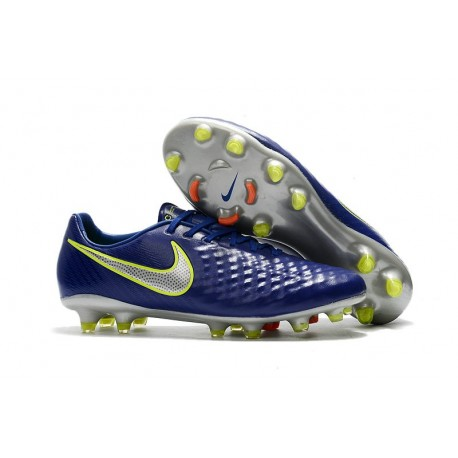 News Men Nike Magista Opus II FG Soccer Shoes Dark Blue Silver