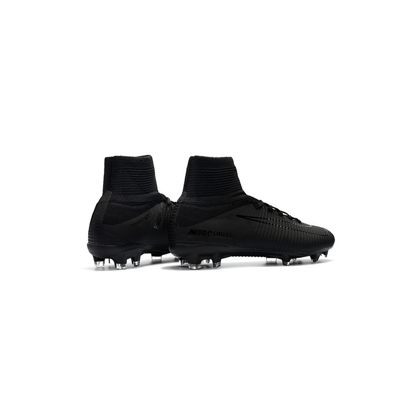 2f89710ea60c4 Nike Mercurial Superfly 5 FG Firm Ground Soccer Cleat - All Black Maximize.  Previous. Next