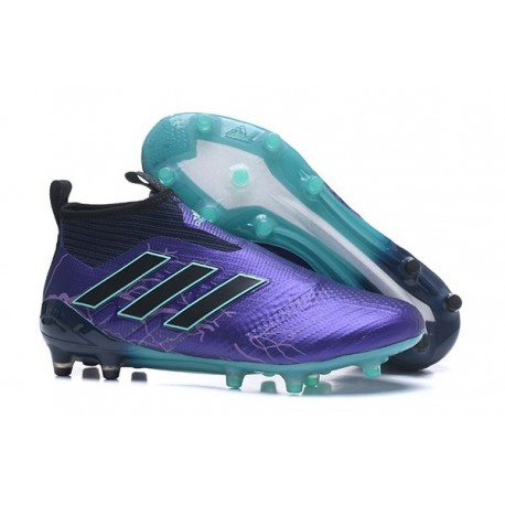 Adidas ACE 17+ Purecontrol FG Dragon Soccer Cleats Core Black Blue