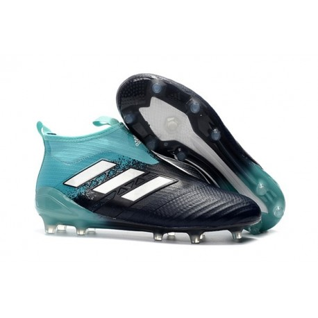 adidas ACE 17 Plus PureControl FG-AG Football Boots Blue Black White