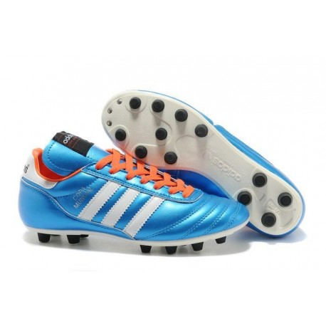 adidas Copa Mundial FG K-Leather Football Shoes Solar Blue