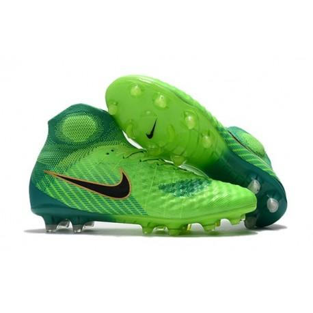 Top Nike Magista Obra II FG 2017 Mens Football Shoes Green Black