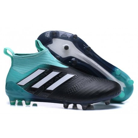 purchase cheap fb4b2 4cff6 adidas ACE 17+ Purecontrol FG Men Soccer Cleats Black Blue White