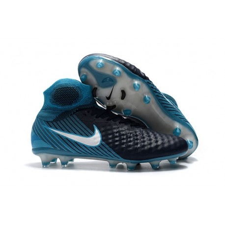 Top Nike Magista Obra 2 FG Firm Ground Boots - Black Blue