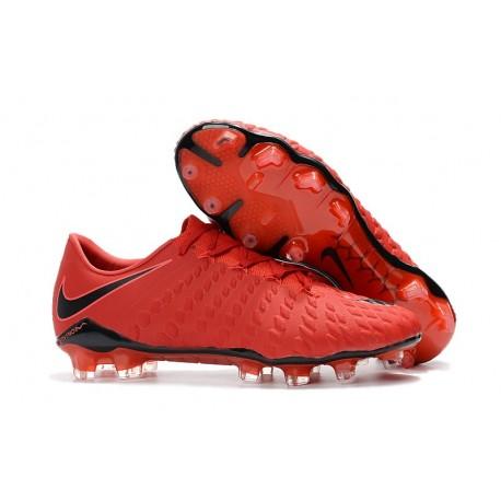 Nike Hypervenom Phantom 3 FG Firm Ground Shoes - Red Black