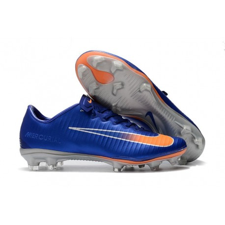 Nike Mercurial Vapor 11 FG Firm Ground New Cleat - Blue Orange