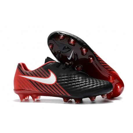 News Men Nike Magista Opus II FG Soccer Shoes Black Red