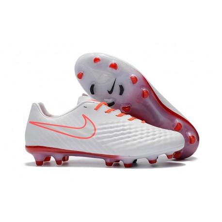 News Men Nike Magista Opus II FG Soccer Shoes White Orange