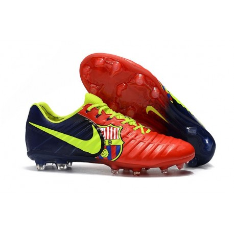 Nike Tiempo Legend VII FG ACC Mens Soccer Cleats - Barcelona Red