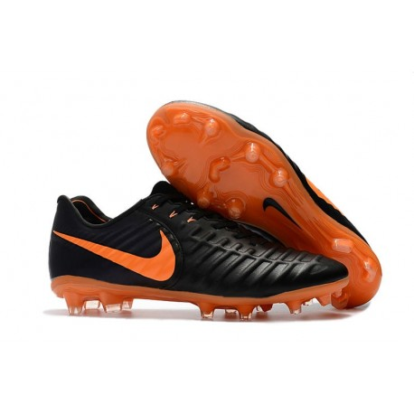 Nike Tiempo Legend VII FG ACC Mens Soccer Cleats - Black Orange