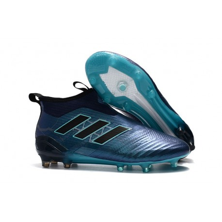 adidas ACE 17 Plus PureControl FG-AG Football Boots Deep Blue Black