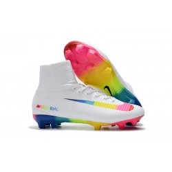 Nike Mercurial Superfly V FG ACC Mens Boot -White Colorful