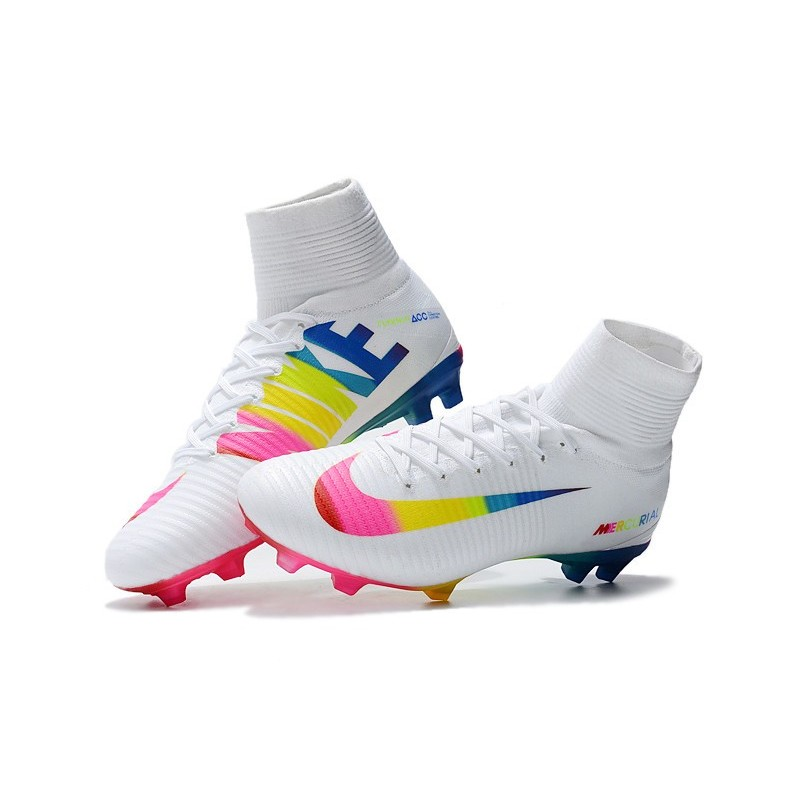 d0ed9eeff ... shop nike mercurial superfly v fg acc mens boot white colorful  maximize. previous. next