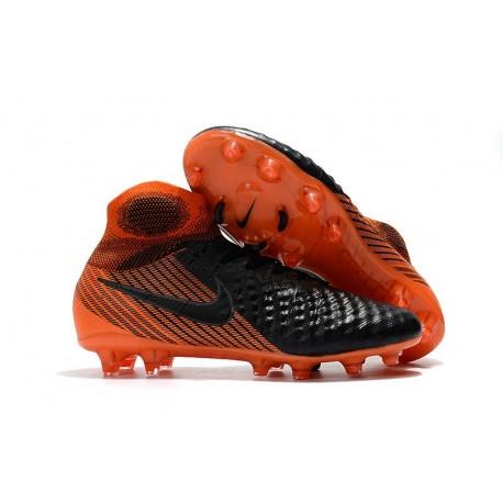 Top Nike Magista Obra 2 FG Firm Ground Boots - Black Orange