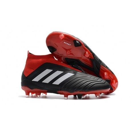 adidas New Predator 18+ FG Soccer Cleats Black Red White