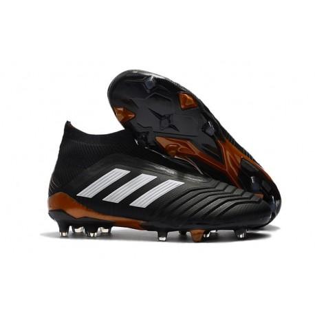 adidas New Predator 18+ FG Soccer Cleats Black White