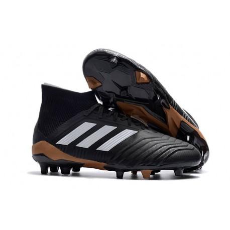 adidas Predator 18.1 Mens FG Football Boots Black White Red