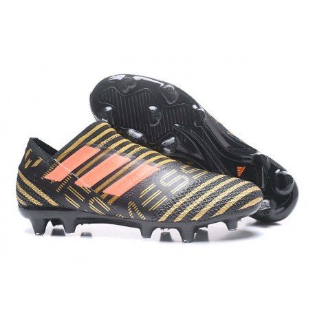 adidas Nemeziz Messi 17+ 360 Agility FG Mens Boots - Black Gold Orange