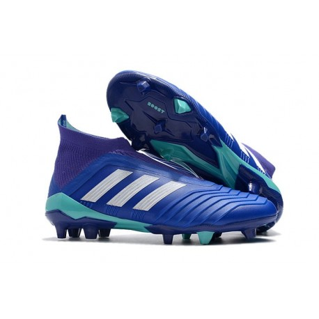 adidas New Predator 18+ FG Soccer Cleats Blue White