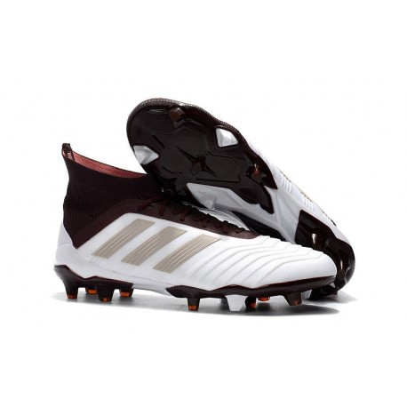 adidas Predator 18.1 Mens FG Football Boots White Brown 4371d64af31b2