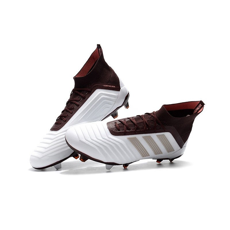 adidas Predator 18.1 Mens FG Football Boots White Brown Maximize. Previous.  Next bc9971da3c4