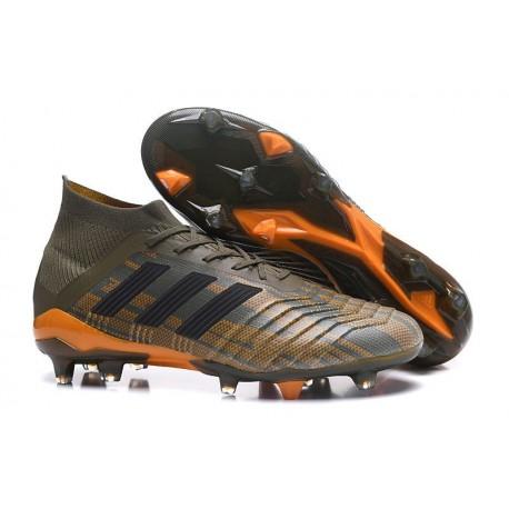 adidas Predator 18.1 Mens FG Football Boots Olive Green Black Orange