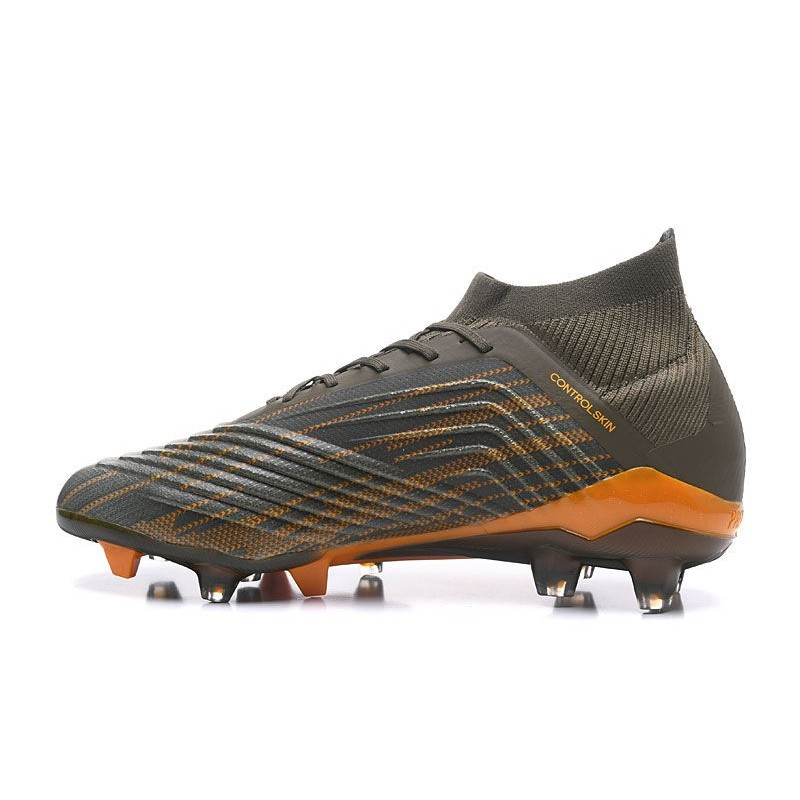 88376dfb3 adidas Predator 18.1 Mens FG Football Boots Olive Green Black Orange  Maximize. Previous. Next