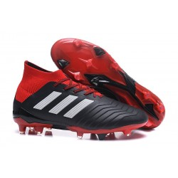 adidas Predator 18.1 Mens FG Football Boots Black White Red