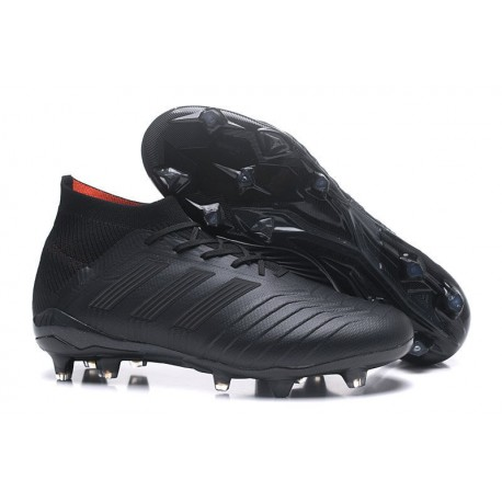 adidas Predator 18.1 Mens FG Football Boots Full Black