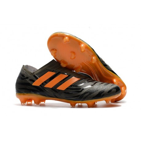 adidas Nemeziz Messi 17+ 360 Agility FG Cleats Black Orange