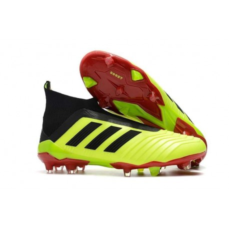1becc04c79f7 adidas New Predator 18+ FG Soccer Cleats Volt Red Black