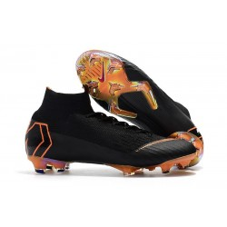 Nike Mercurial Superfly VI 360 Elite FG Soccer Cleats - Black Orange