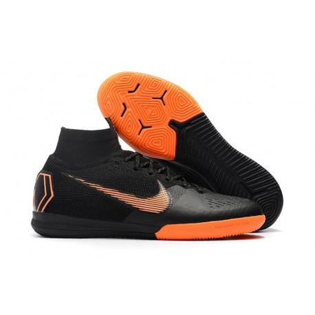 Nike Mercurial SuperflyX VI Elite IC Indoor Shoes Black Orange