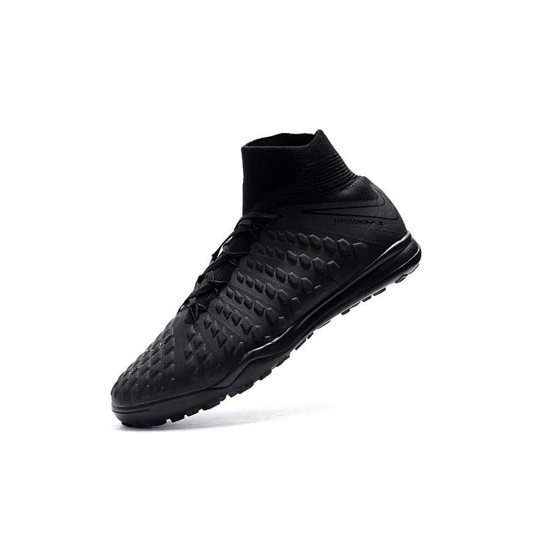 8c7e2f0477c7 Nike HypervenomX Proximo II DF TF Turf Soccer Shoes - All Black Maximize.  Previous. Next