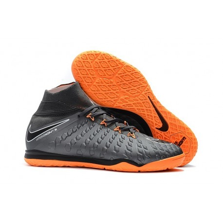 Nike HypervenomX Proximo II DF IC Futsal Wolf Grey Orange