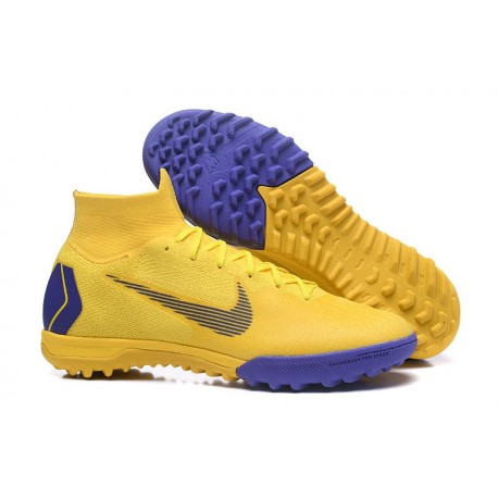 705a9488e74 Nike Mercurial SuperflyX 6 360 Elite TF Boots - Yellow Blue