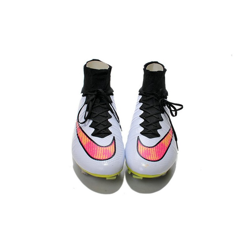 Top Nike Mercurial Superfly FG ACC Soccer Cleat White Pink Black