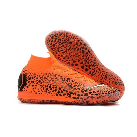 Ronaldo Nike Mercurial SuperflyX VI Elite IC Indoor Shoes Safari Orange Black