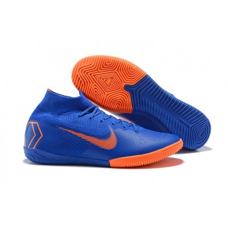 Nike Mercurial SuperflyX VI Elite IC Indoor Shoes Blue Orange