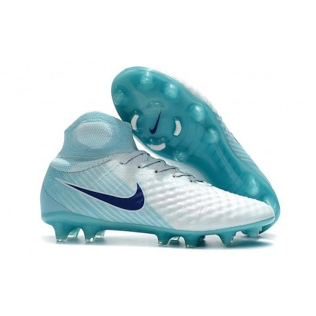 Top Nike Magista Obra 2 FG Firm Ground Boots - White Blue