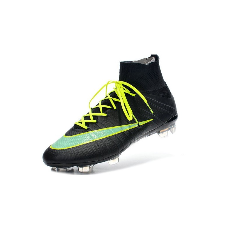Top Nike Mercurial Superfly FG ACC Soccer Cleat Black Green
