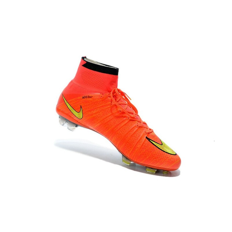 Top Nike Mercurial Superfly FG ACC Soccer Cleat Hyper Punch Gold Black